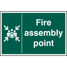 FIRE ASSEMBLY POINT RPVC (PK5) 200MM X 300MM