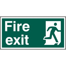 FIRE EXIT MAN RIGHT RPVC (PK5) 300MM X 150MM