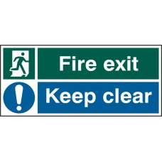 FIRE EXIT KEEP CLEAR RPVC(PK5) 450MM X 200MM