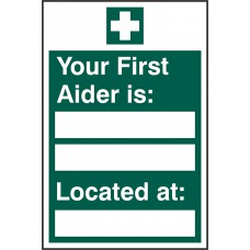 FIRST AIDER LOCATED SAV (PK5) 200MM X 300MM