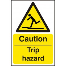CAUTION TRIP HAZ SAV (PK5) 200MM X 300MM