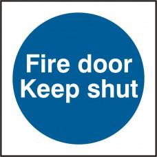 FIRE DOOR KEEP SHUT SAV (PK5) 100MM X 100MM