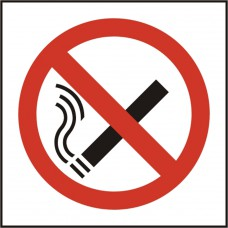 NO SMOKING SYMBOL SAV (PK5) 100MM X 100MM
