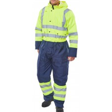 TWO TONE HIVIZ THERMAL WATERPROOF COVERALL