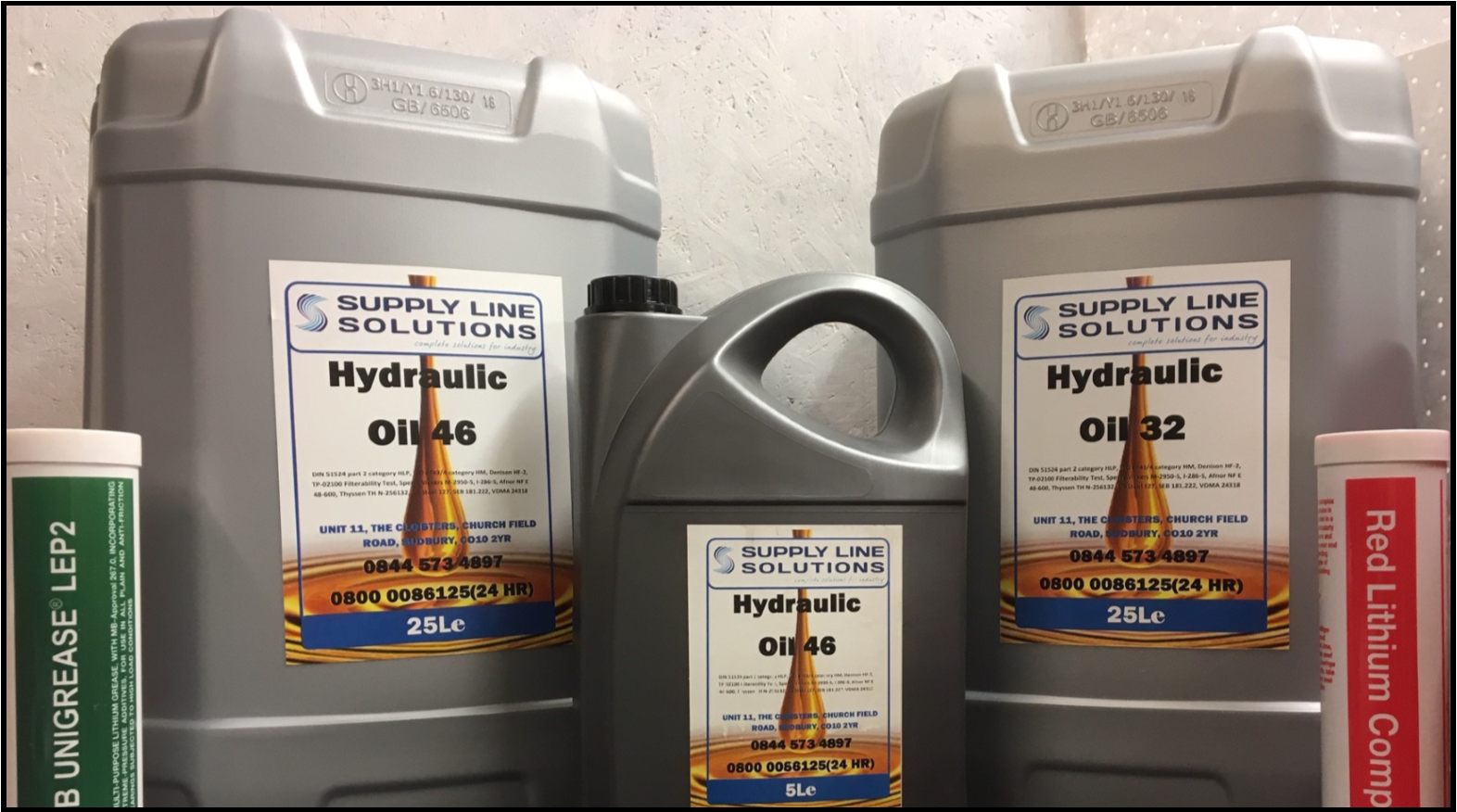 Hydraulic Lubricants and Oils Image. Link to More Details